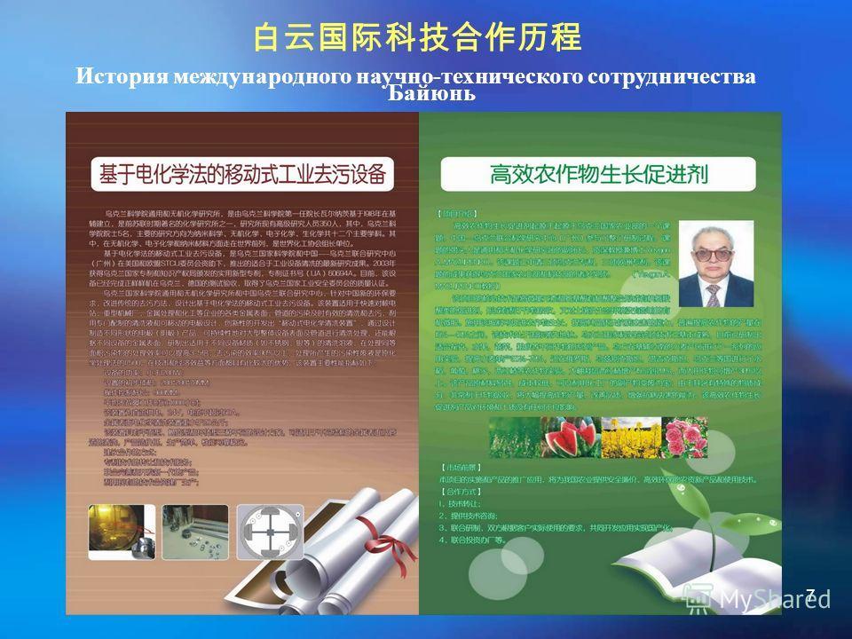 7 История международного научно-технического сотрудничества Байюнь