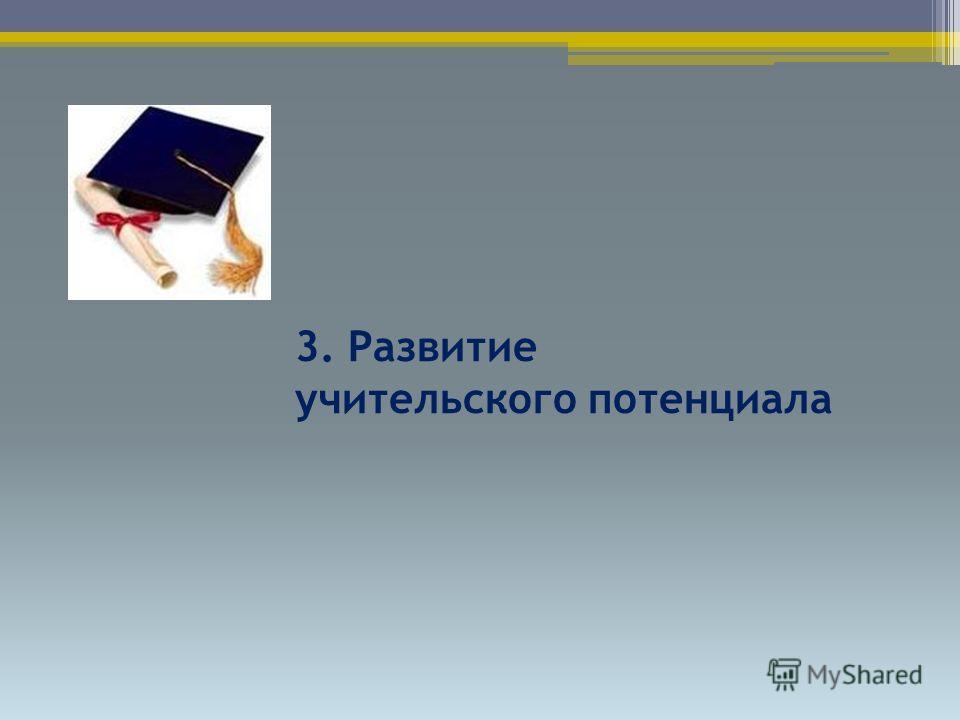 3. Развитие учительского потенциала
