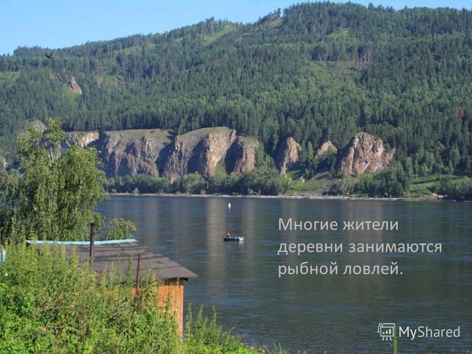Многие жители деревни занимаются рыбной ловлей.