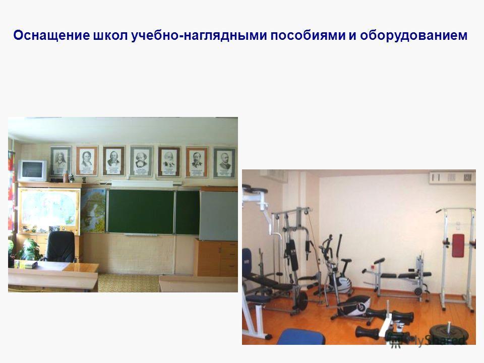 Оснащение школ учебно-наглядными пособиями и оборудованием