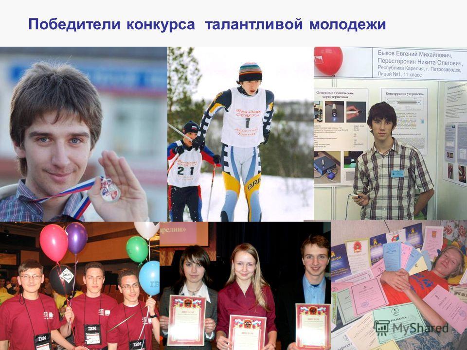 Победители конкурса талантливой молодежи