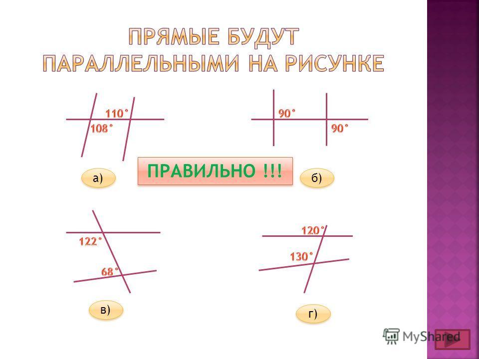 а) б) в) г) ПРАВИЛЬНО !!!