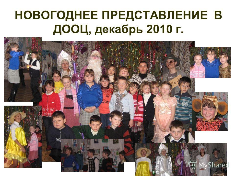 НОВОГОДНЕЕ ПРЕДСТАВЛЕНИЕ В ДООЦ, декабрь 2010 г.