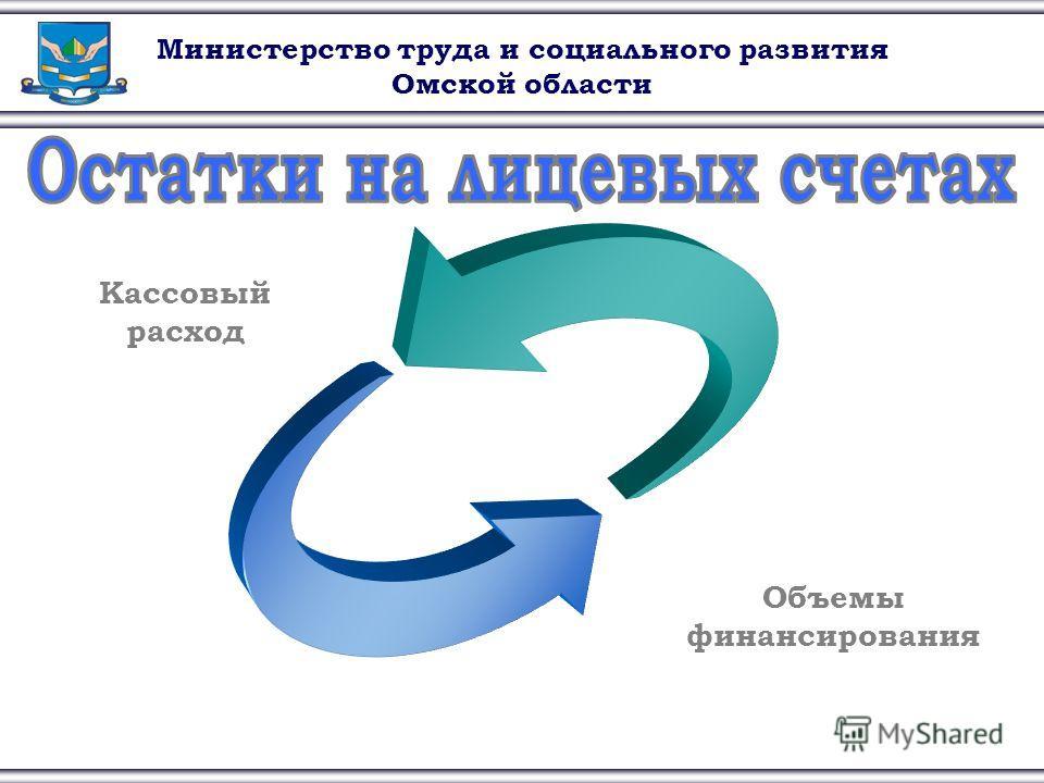 Министерство труда и социального развития Омской области Кассовый расход Объемы финансирования