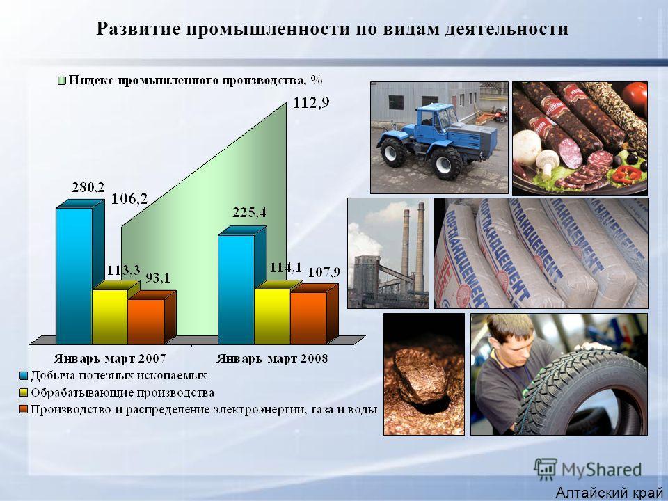 Развитие промышленности по видам деятельности Алтайский край