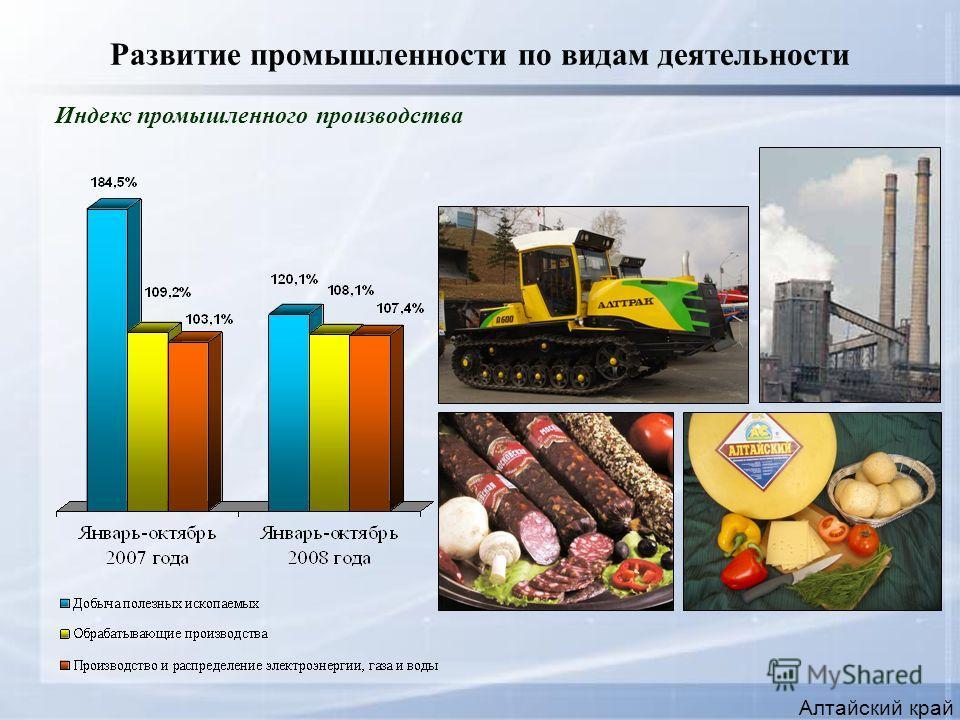 Развитие промышленности по видам деятельности Алтайский край Индекс промышленного производства