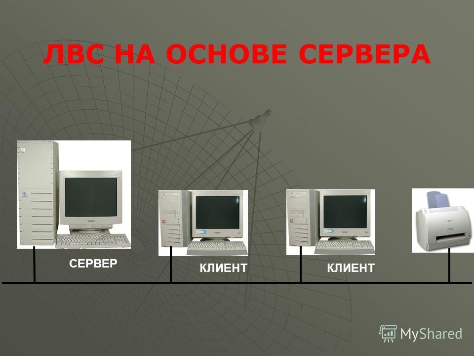 СЕРВЕР КЛИЕНТ ЛВС НА ОСНОВЕ СЕРВЕРА