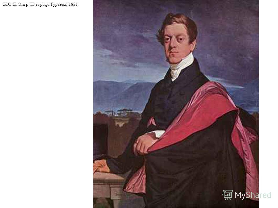 Ж.О.Д. Энгр. П-т графа Гурьева. 1821
