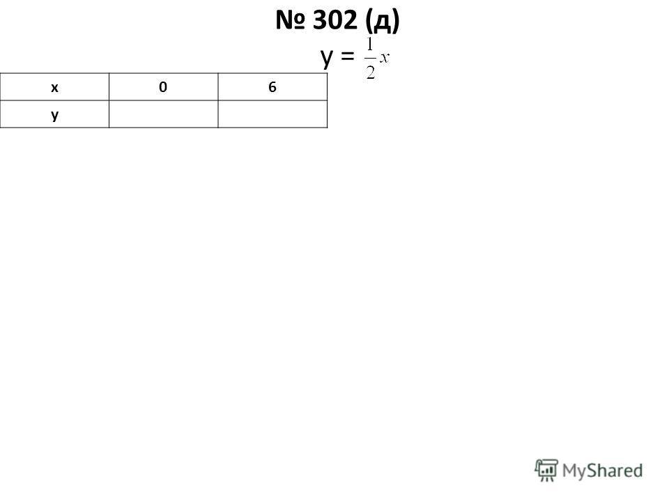 302 (д) у = х06 у