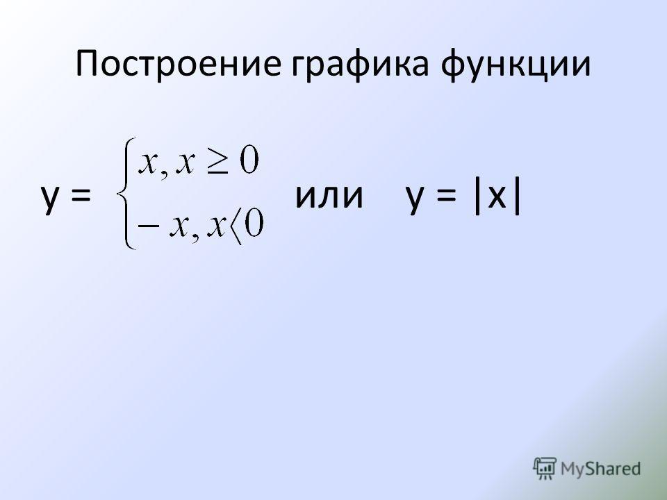 Построение графика функции у = или у = |x|