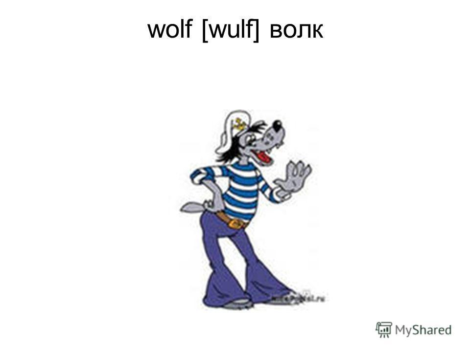 wolf [wulf] волк