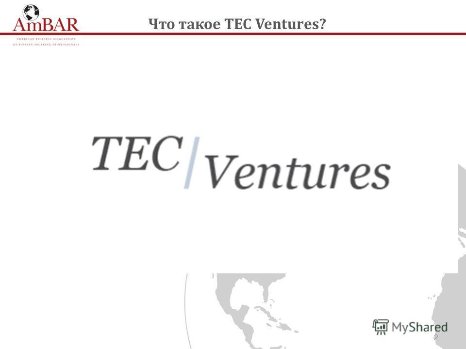 2 Что такое TEC Ventures?