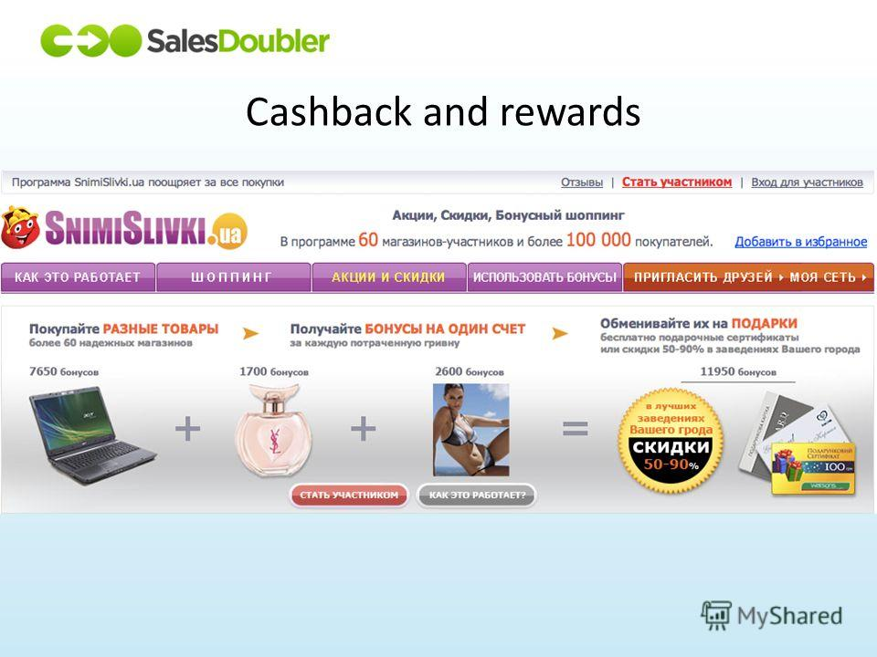 Cashback and rewards