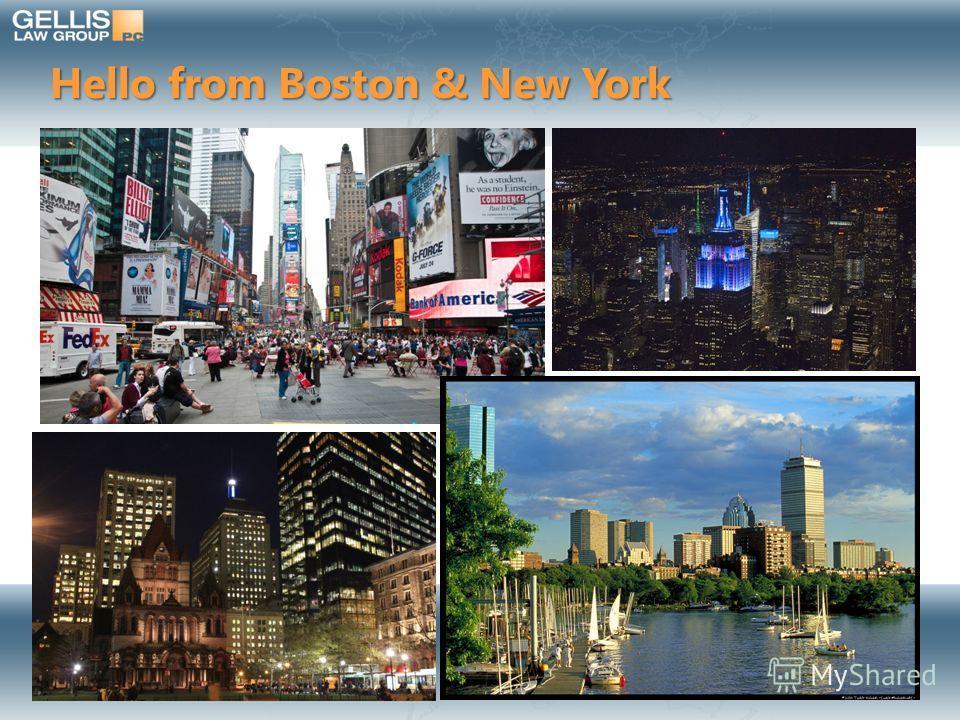 Hello from Boston & New York