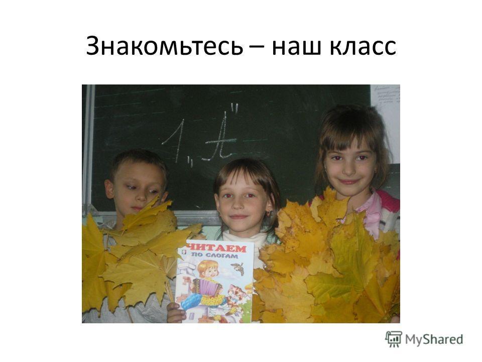 Знакомьтесь – наш класс