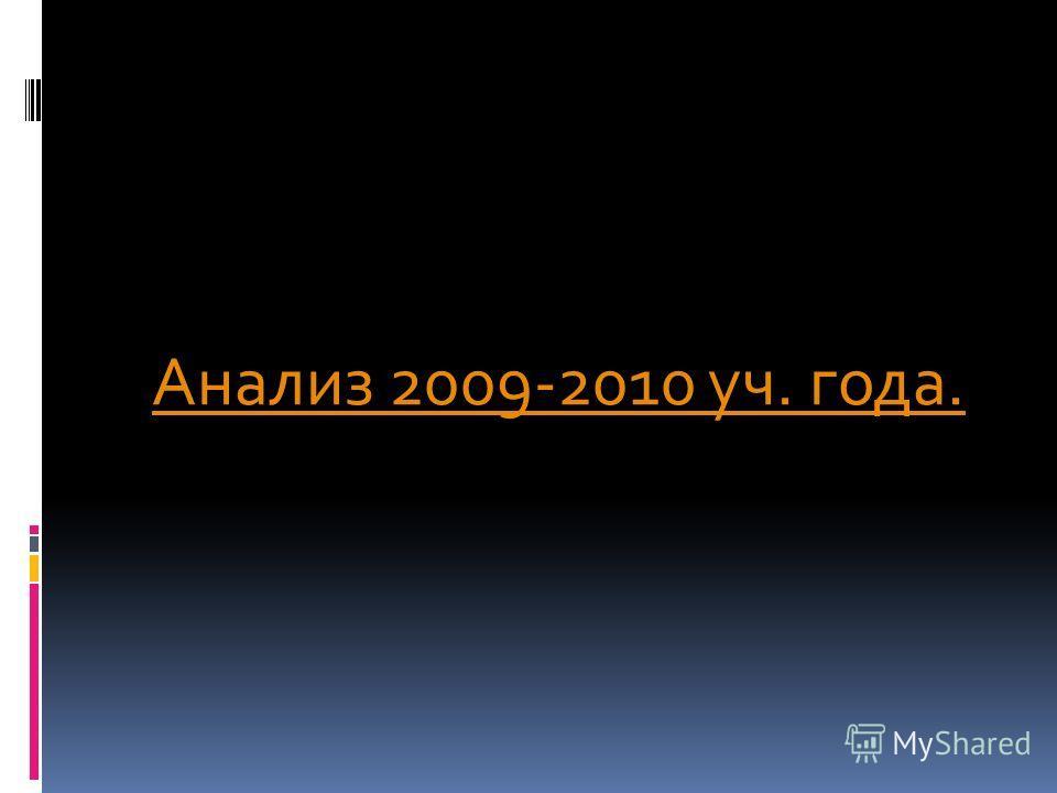Анализ 2009-2010 уч. года.