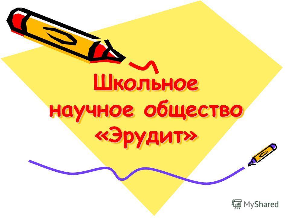 Школьное научное общество «Эрудит»