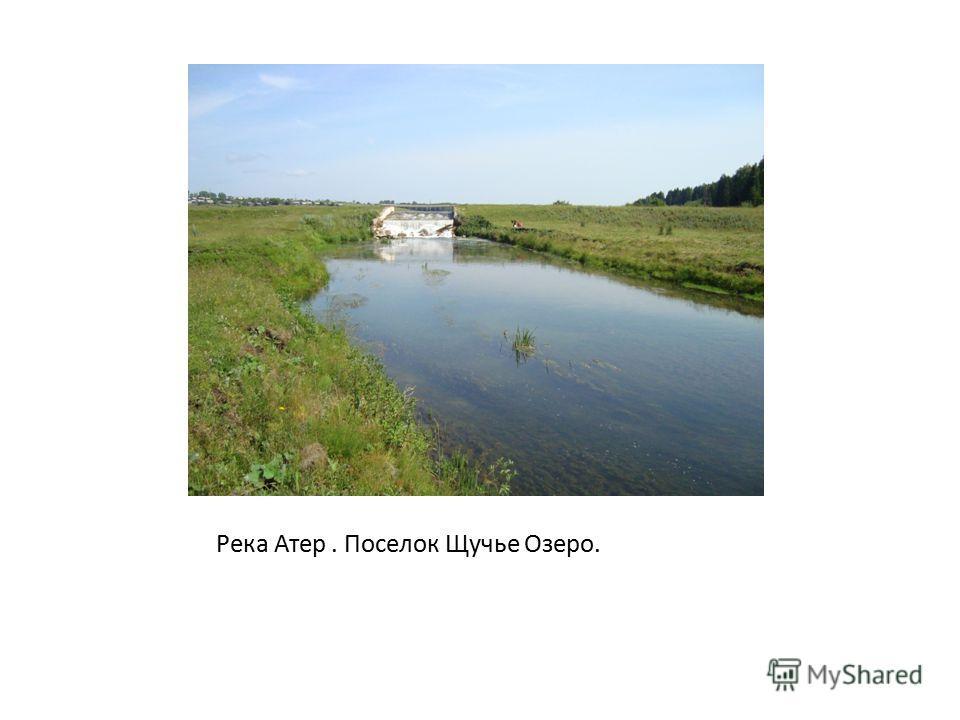 Река Атер. Поселок Щучье Озеро.