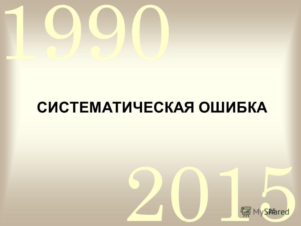 2015 1990 25 СИСТЕМАТИЧЕСКАЯ ОШИБКА