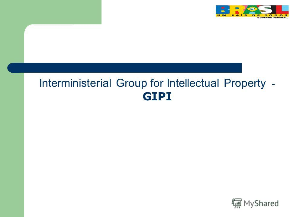 Interministerial Group for Intellectual Property - GIPI