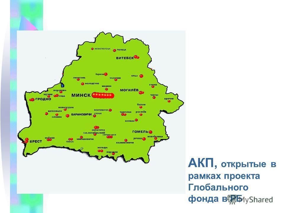 АКП, открытые в рамках проекта Глобального фонда в РБ