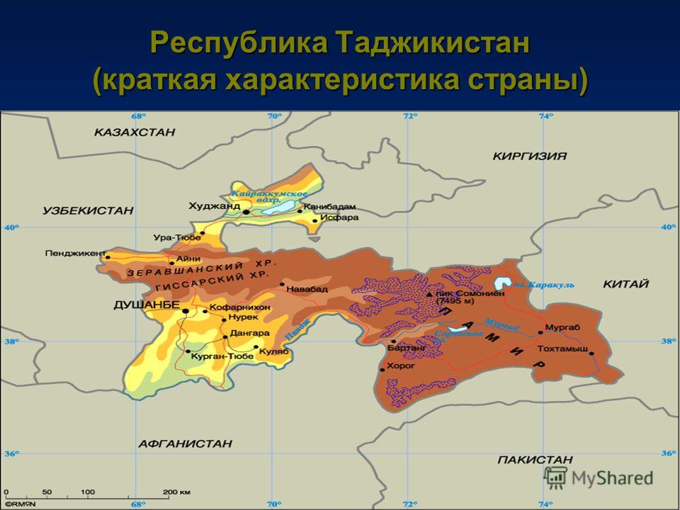 Республика Таджикистан (краткая характеристика страны)