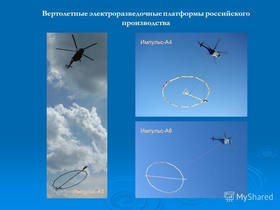 Импульс-А6 Вертолетные электроразведочные платформы российского производства Импульс-А4 Импульс-А5