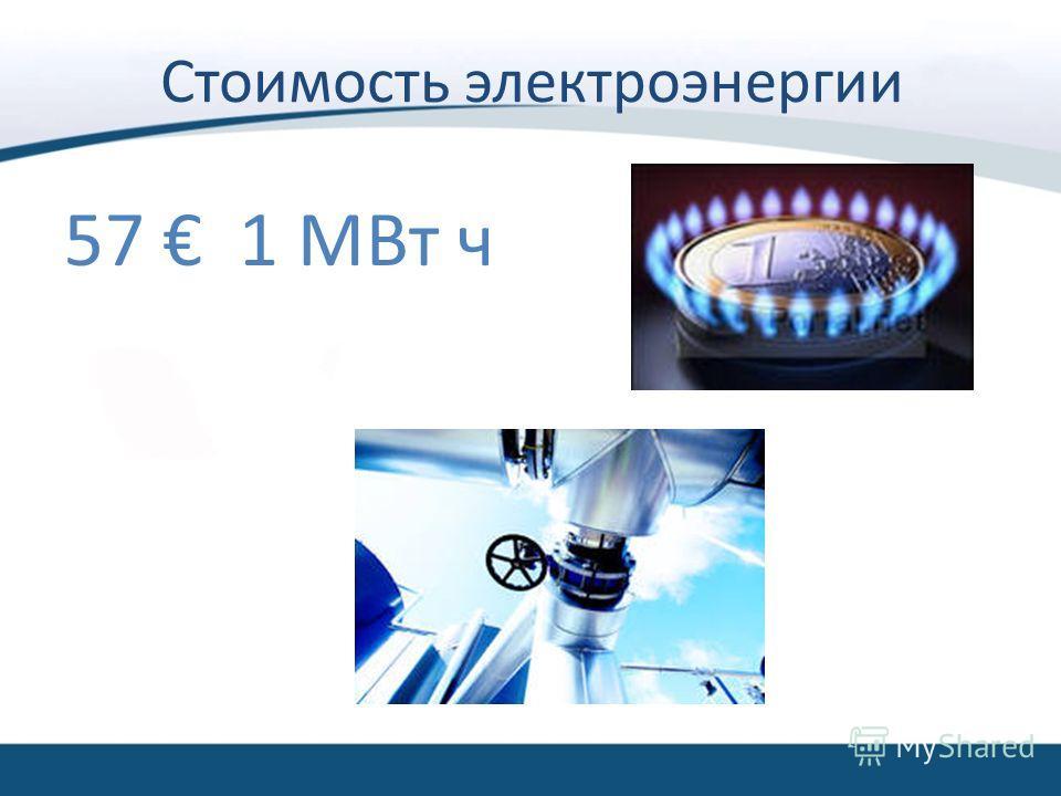 Стоимость электроэнергии 57 1 МВт ч