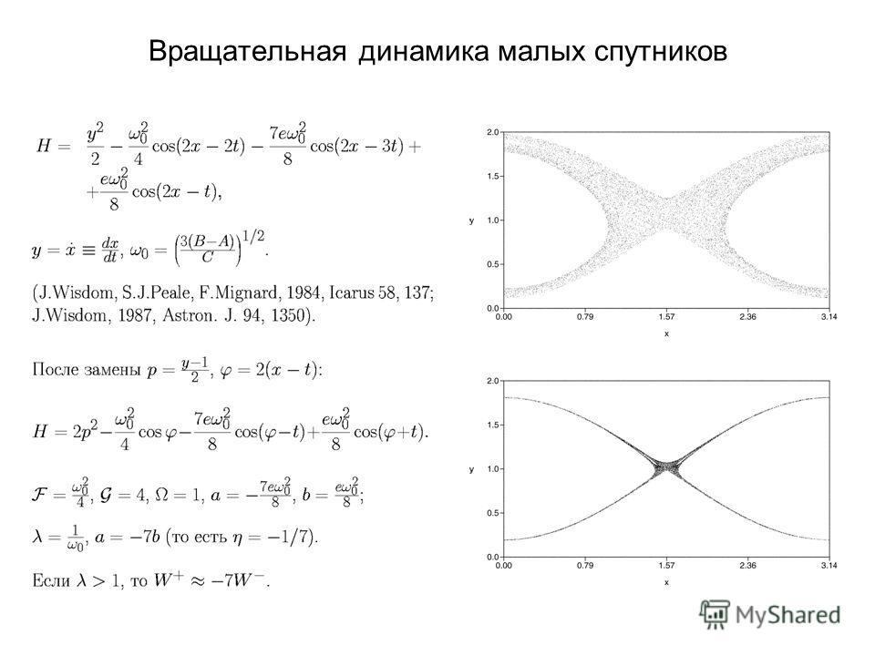 Вращательная динамика малых спутников