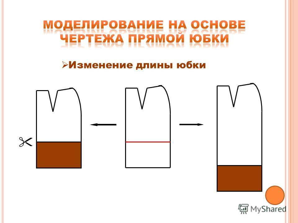 Изменение длины юбки