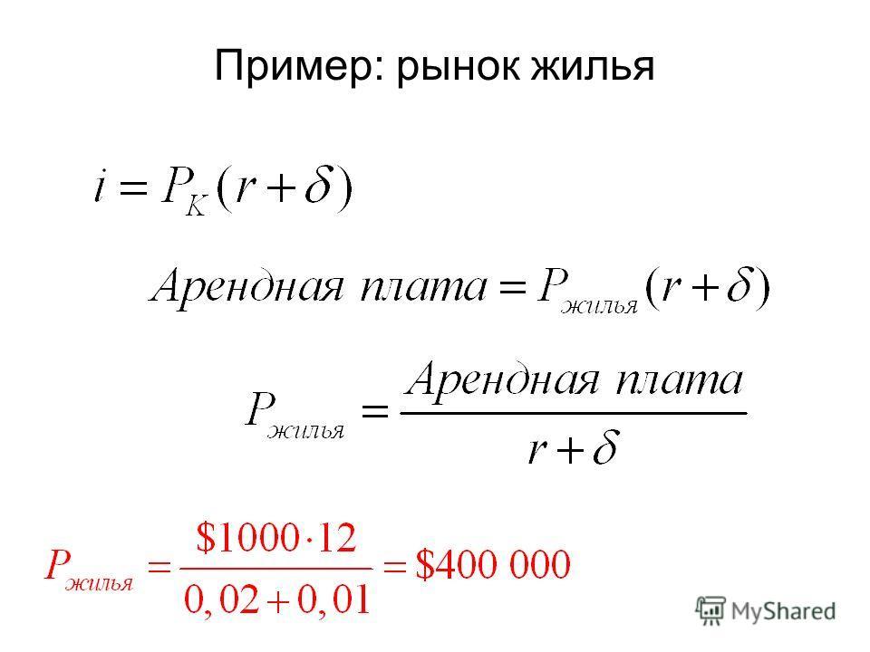 Пример: рынок жилья