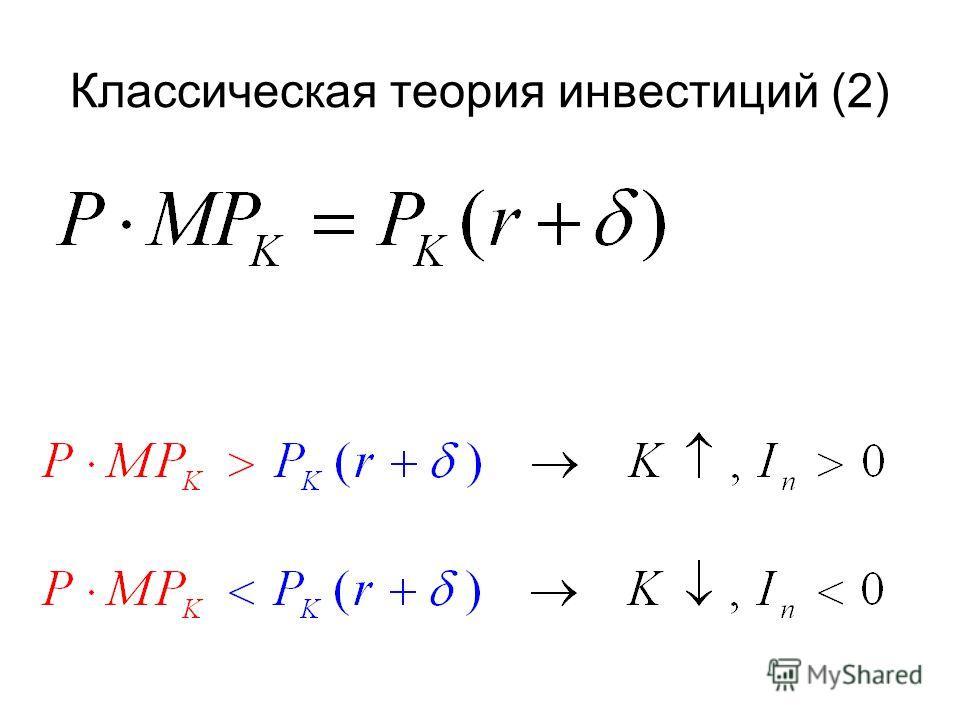Классическая теория инвестиций (2)