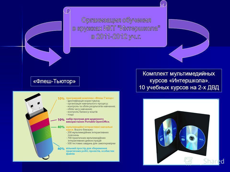 «Флеш-Тьютор» Комплект мультимедийных курсов «Интершкола». 10 учебных курсов на 2-х ДВД