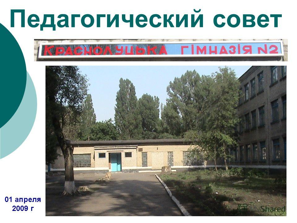 Педагогический совет 01 апреля 2009 г