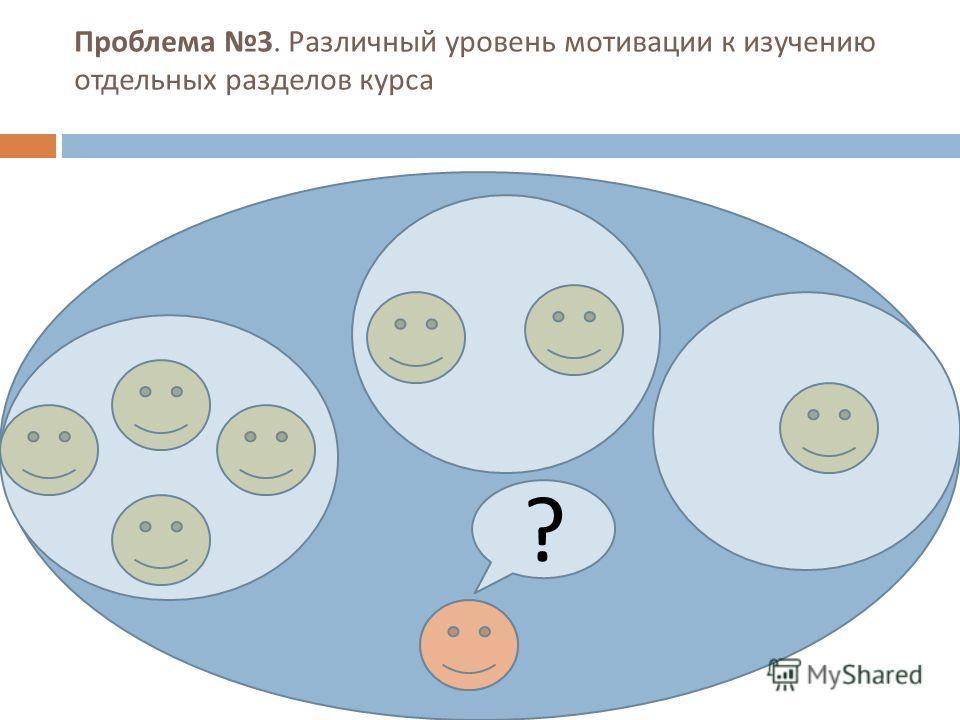 Проблема 2. У слушателей курсов разный уровень владения компьютерными технологиями