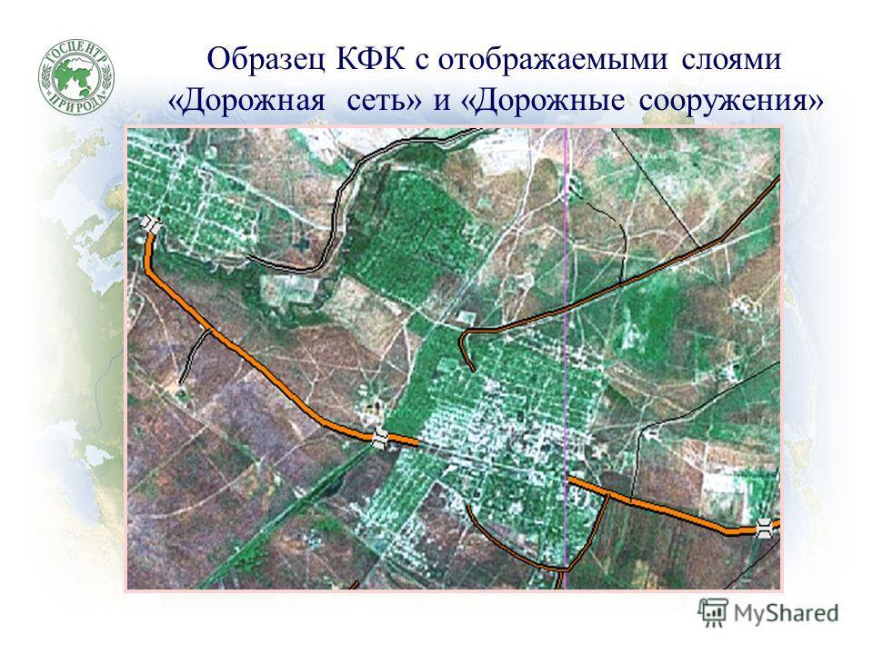 Образец КФК с отображаемыми слоями «Дорожная сеть» и «Дорожные сооружения»