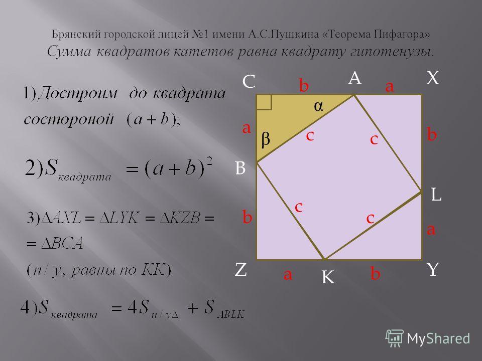 A C X B L Z K Y ba a b b a ab c c c c α β