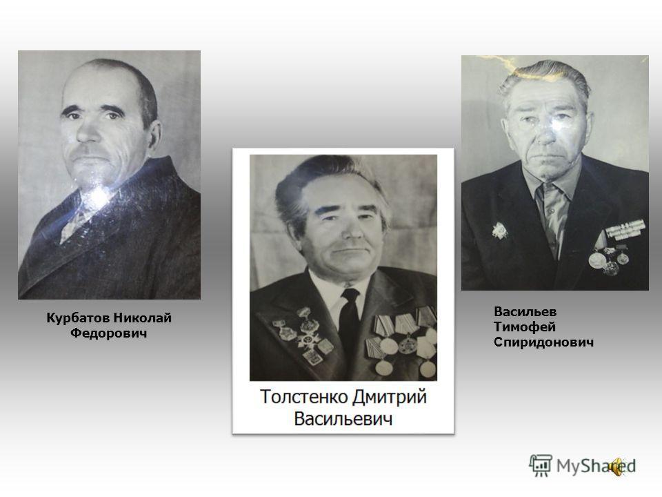 Васильев Тимофей С пиридонович Курбатов Николай Федорович