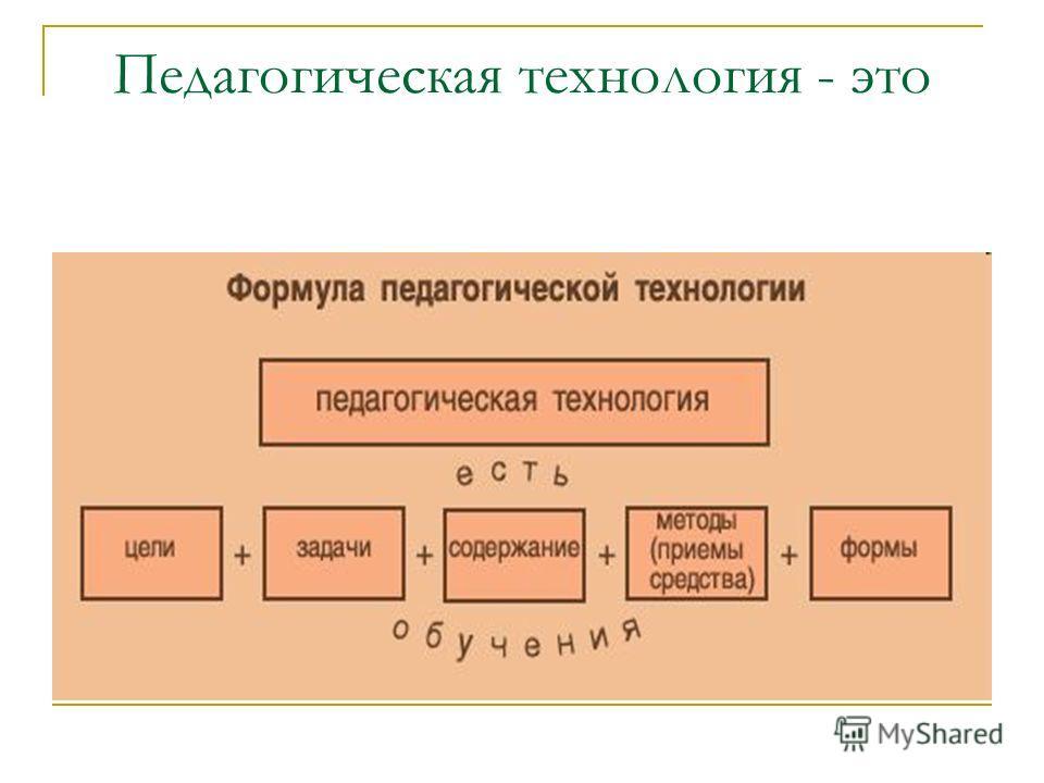 Педагогическая технология - это