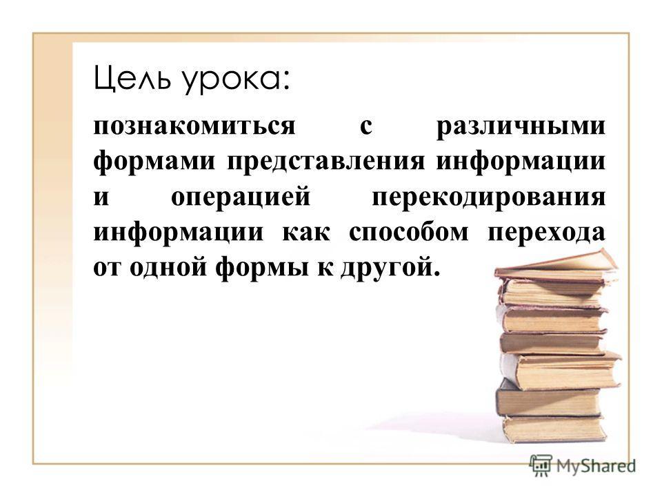 Кодированиеинформации