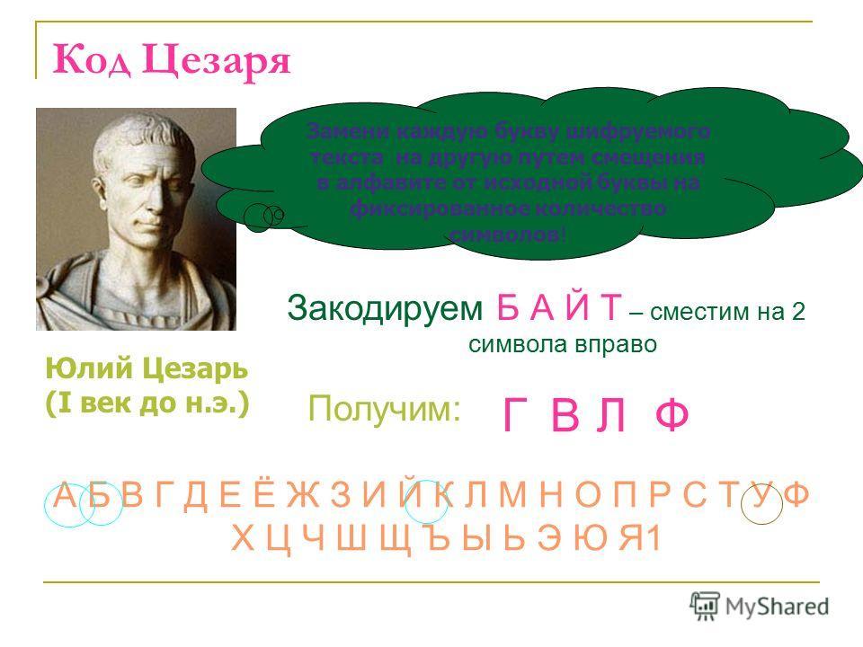 Историческая справка Криптография - это тайнопись, система изменения письма с целью сделать текст непонятным для непосвященных лиц Азбука Морзе или неравномерный телеграфный код, в котором каждая буква или знак представлены своей комбинацией коротких