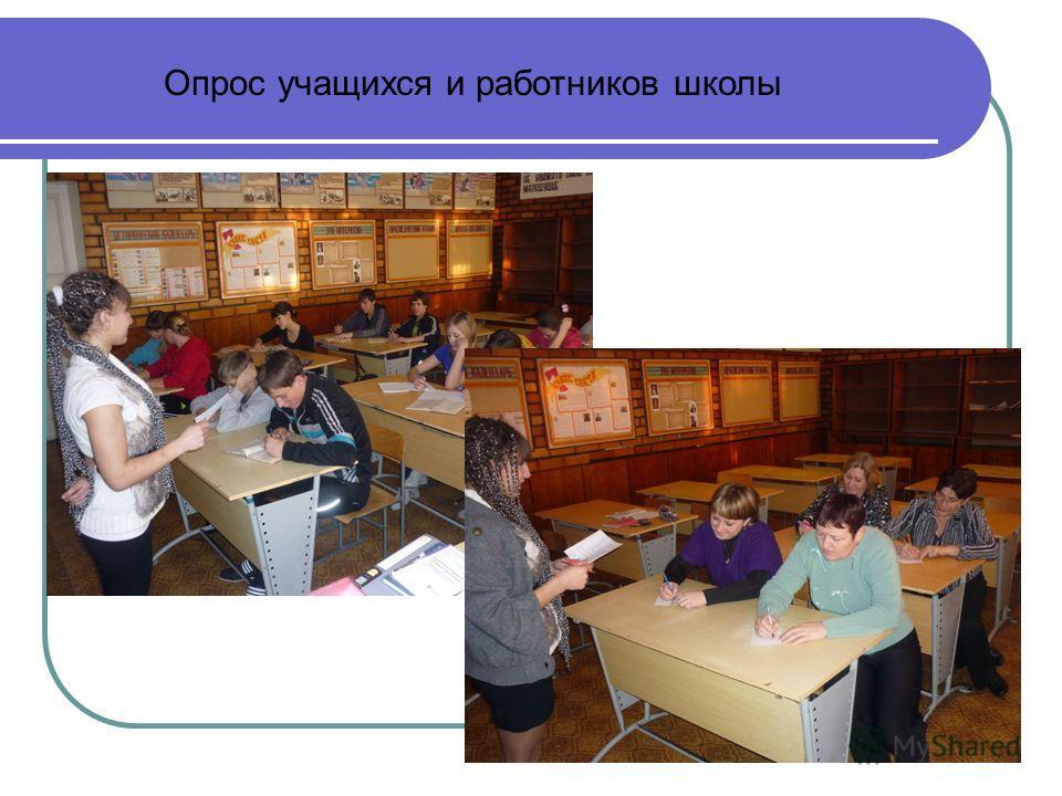 Опрос учащихся и работников школы