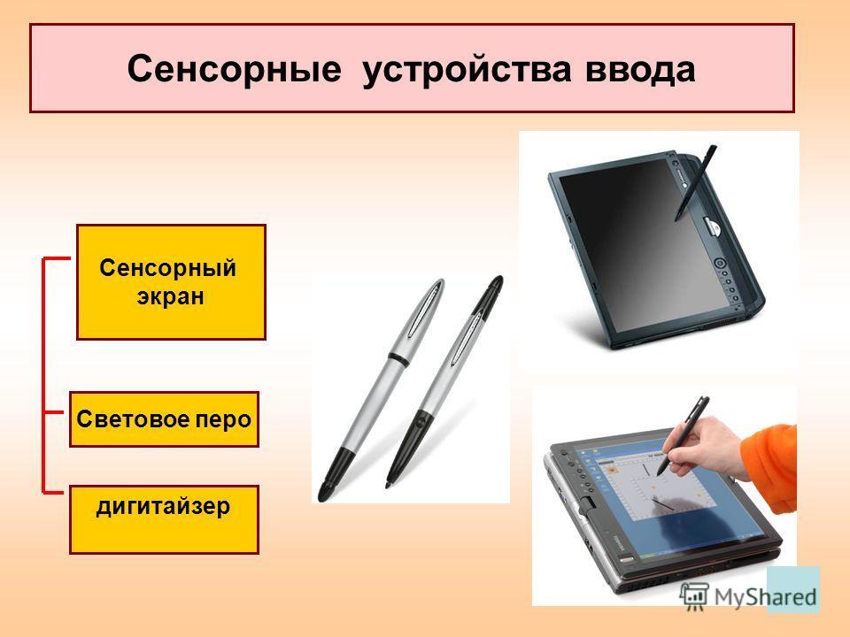 Сенсорные устройства ввода Сенсорный экран Световое перо дигитайзер