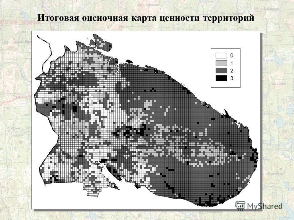 Итоговая оценочная карта ценности территорий
