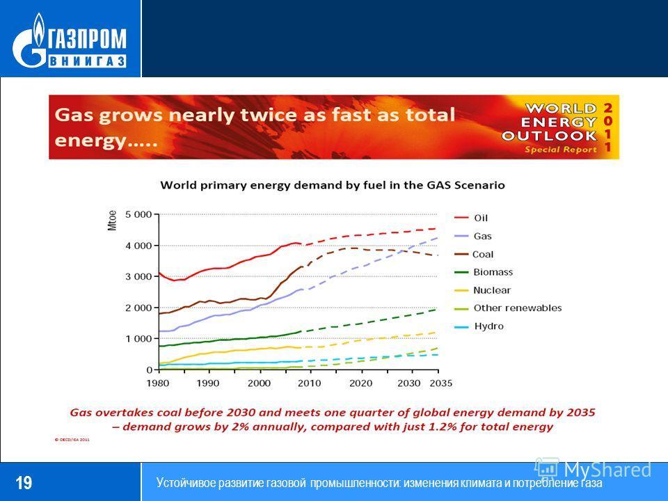 19 Устойчивое развитие газовой промышленности: изменения климата и потребление газа