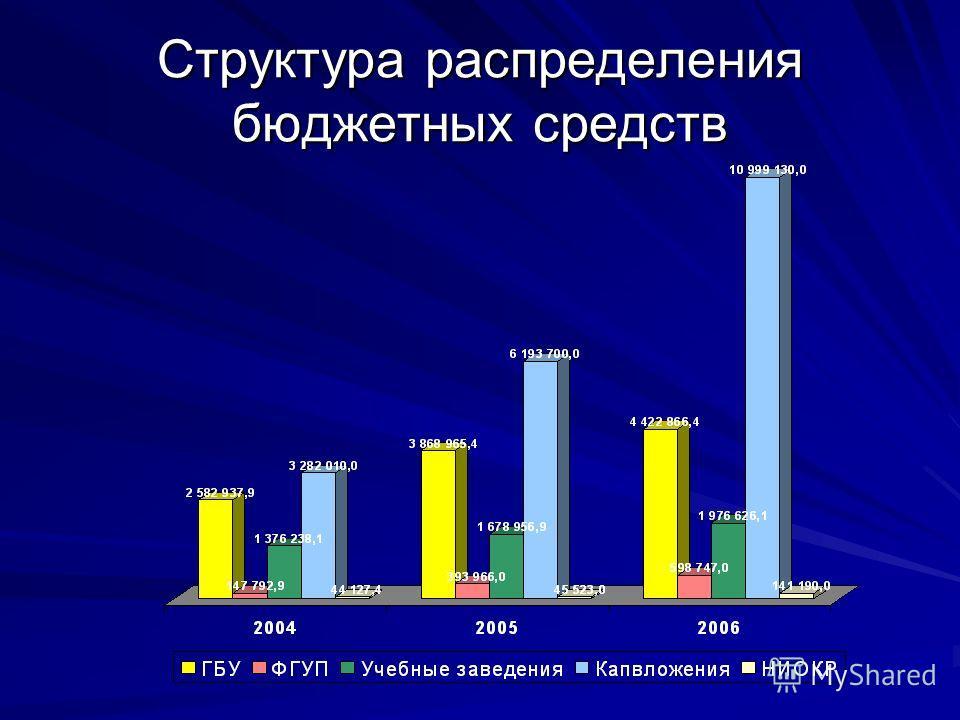 Структура распределения бюджетных средств