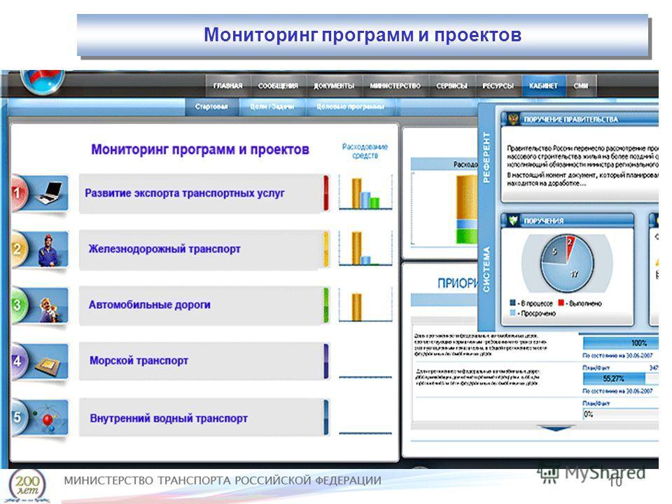 10 Мониторинг программ и проектов