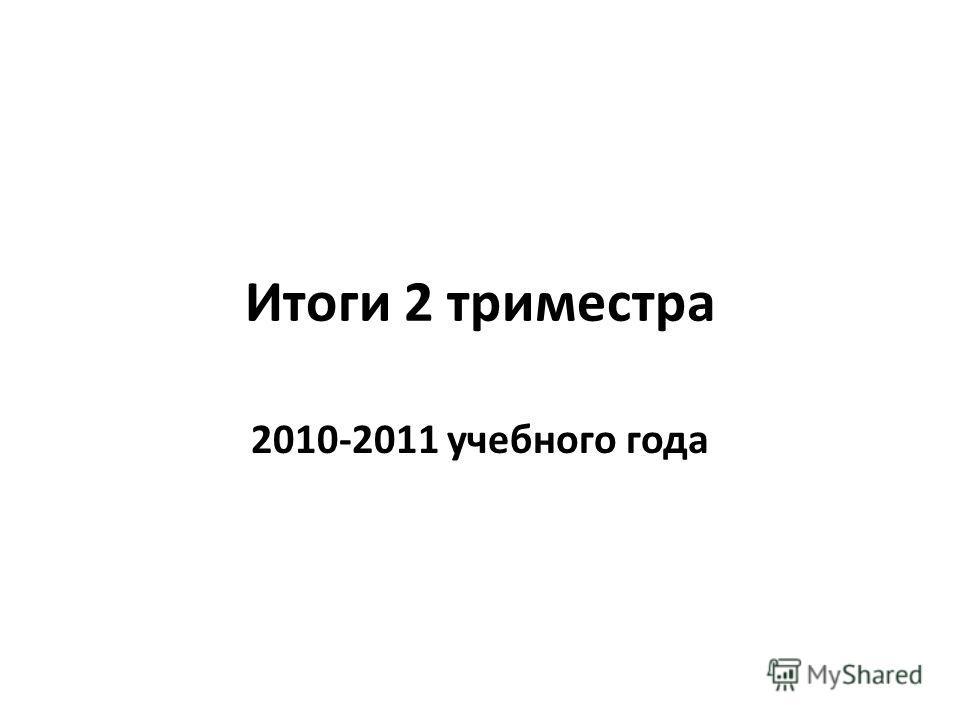 Итоги 2 триместра 2010-2011 учебного года