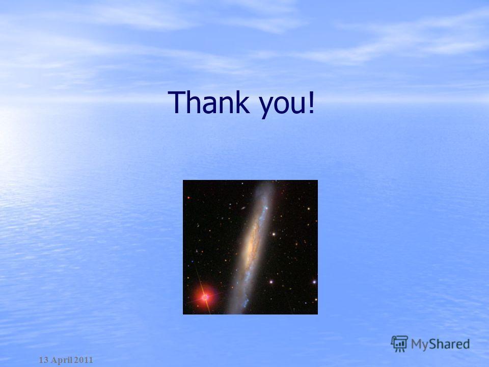 Thank you! 13 April 2011