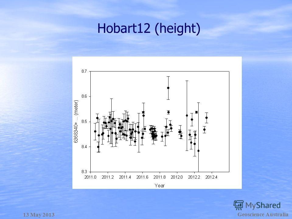 Hobart12 (height) Geoscience Australia 13 May 2013